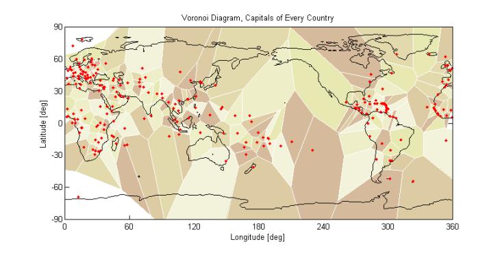 Voronoi Diagram Capitals